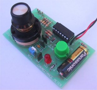 capacitance meter project This project comprises the design and construction of a simple capacitance meter capable of measuring capacitors in the range of about 20 picof to hundreds of microf this can be a very useful tool when checking our capacitors and it will also make us feel the satisfaction of having built it ourselves.
